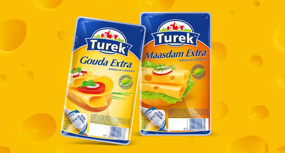 Projekt linii opakowań serów Turek - BraciStudio